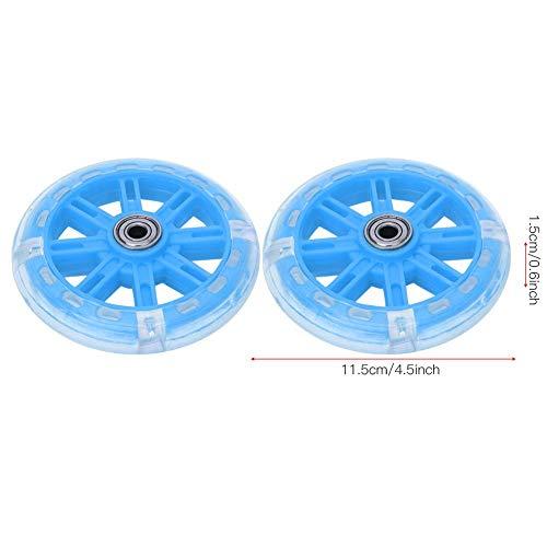 Alomejor Kinderfahrrad Stützräder LED Leuchten Fahrradstabilisatoren Stützräder Ersatz für 12-20 Zoll Kinderfahrrad(Blau) - 3