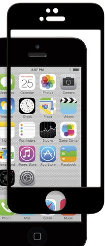 Moshi iVisor Glass - Glass Screen Protector For iPhone 5/5s/5c (Black)