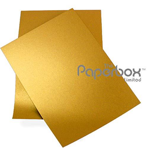 Lot de 10 feuilles de papier A4 nacré doré