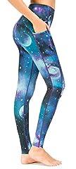 Sugar Pocket Womens Athletic Yoga Pants Printed Workout Yoga Leggings Fitness Tights, L, 81 Printed #4