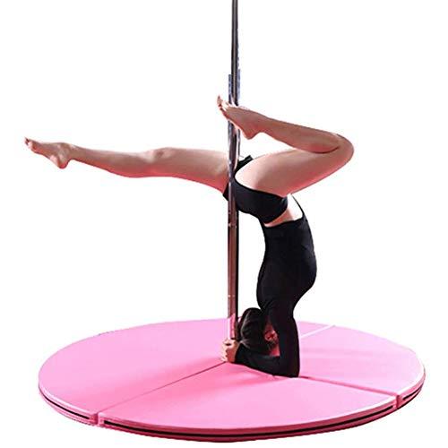 ZOYOL Stripper Pole Dance Stange Tanzstange Matte Sicherheit Yoga Fußboden Tragbar Pole Dance Tanzen Matte Fitnessstudio Übung Fitness Sicherheit Polsterung zum Verein Party Pub Zuhause,5CM