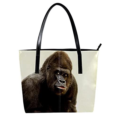 Bolso de piel sintética con diseño de mono gorila