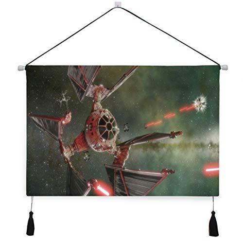 SURERUIM Cartel colgante de lona,Star Wars Spaceship Satellite Cool Diseño mecánico creativo,tapiz decorativo para decoración de arte de pared de dormitorio de hotel en casa