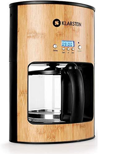 Klarstein Bamboo Garden macchina per il caffé caffettiera americana (1080W, serbatoio 1,25 litri, funzione timer, filtro permanente, piastra conserva- calore, bamboo)