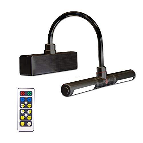 BIGLIGHT - Luz LED inalámbrica a batería con mando a distancia, 3 modos de iluminación, lámpara de visualización regulable con temporizador para pintar fotos y retratos, color negro