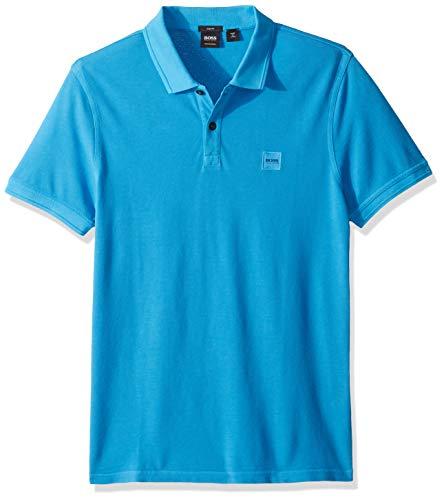 Hugo Boss Herren Prime Polo Shirt with Chest Logo Patch Poloshirt, Open Blue 477, Klein