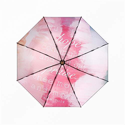 Sturmsicherer RegenschirmUltraleichter Sonnenschirm Sonnenschutz UV-Falten weibliche Sonnenschutzfarbe, D