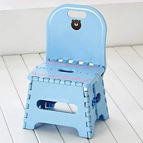 Lehrstuhl Q & FPlastic tragbaren Haushalts Stuhl Klappstuhl Außen kreative kleine Bank Super Kunststoff-Glieder Fußbank Premium kompakte, leichte rutschfeste Klappstuhl 4.10 (Color : Blue)