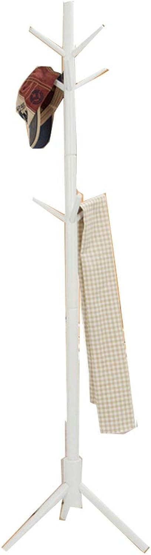 Coat Rack Coat Rack Stand,Coat Rack Coat Hat Stand Garment Rack, European Style Floor-Standing Coat Rack, Wood Living Room Bedroom Study,A,46  46  176