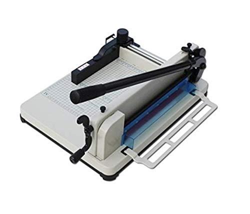 大型裁断機・ペーパーカッター 400枚まで裁断可能、 予備の 替え刃、刃受け木も1セット追加あり、 BA58A4,台付き (低い台m−2)