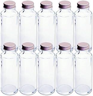 日本製 ハーバリウム 円柱ガラス瓶 100cc 10本セット