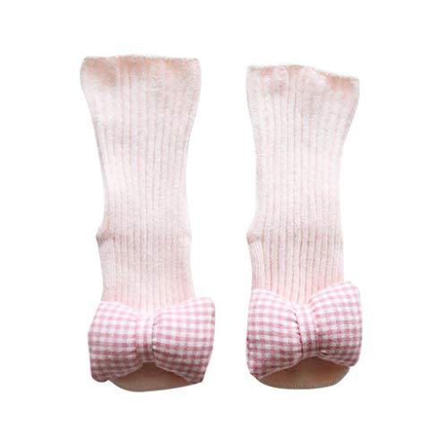 HLIYY-chaussettes Épaisses Antidérapantes Bébé Enfant, Chaussettes Genou Haute Tube en Coton pour Garçons Filles, Chaussette Longue Chaude Confortable pour Hiver/Automne