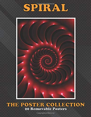 Poster Collection: Spiral Digital Art Abstract Glossy Red Spiral Fractal Abstract