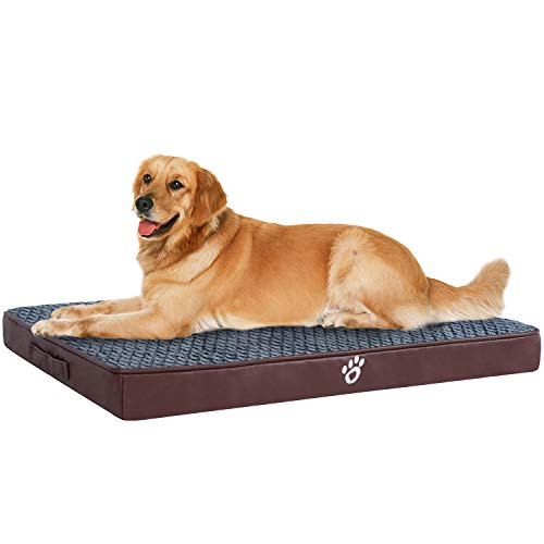 OQQ Dog Bed Crate Mat Dog Mattress Pet Beds Dog Beds for Large Dogs Foam Cushion Anti-Slip with Washable Cover Bed Mats
