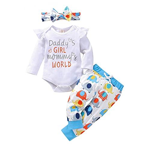 YWLINK Conjuntos Niña Recien Nacido Bebé con Capucha Floral Sudadera Tops Pantalones Ropa Trajes Ropa con Volantes bebés niñas 0-1 Años