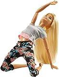 Barbie- Capelli Biondi Bambola Snodata, 22 Punti Snodabili per Tanti Movimenti, Multicolore, FTG81