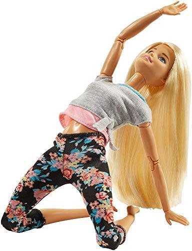 Barbie- Capelli Biondi Bambola Snodata, 22 Punti Snodabili per Tanti Movimenti,...