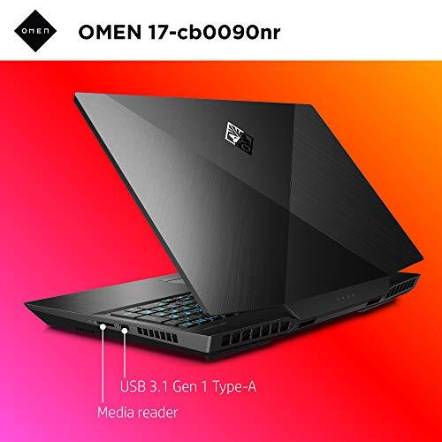 Omen by HP 2019 17-Inch Gaming Laptop, Intel i7-9750H, NVIDIA GeForce RTX 2080 (8 G   B), 16 GB RAM, 512 GB Solid-State Drive, VR Ready, Windows 10 Home (17-cb0090nr, Shadow Black)