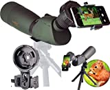 Gosky Skyhawk 20-60x82mm Ultra HD Spotting Scope Kit- Waterproof Frogproof Zoom Telecope for Bird...