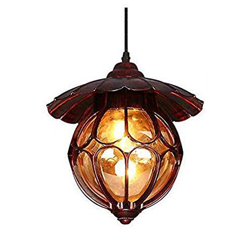 IP44 Hanglampen, buitenlamp, bol, glas, lampenkap, aluminium, hanglamp, binnen, terras, verlichting, kroonluchter, balkon, gang, paviljoen, druif, hanglamp, plafondlamp, 25 x H26 cm
