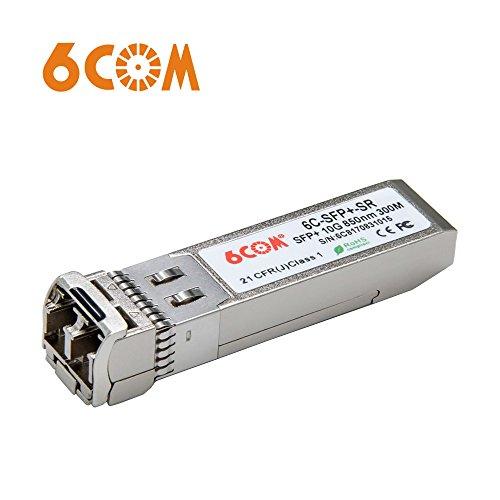 6COM 10G SFP+ Transceiver, 10GBase-SR LC Modul kompatibel für Netgear AXM761, Multimode, 850nm, 300m