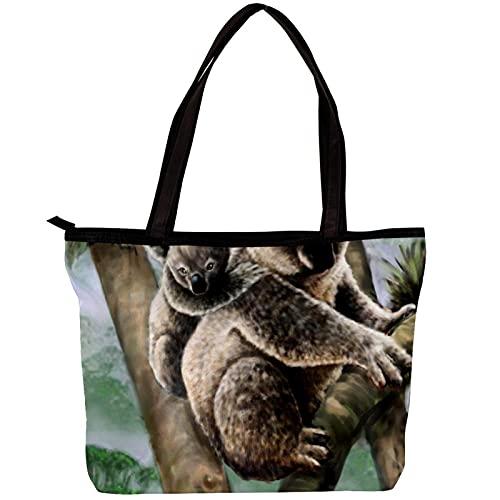 LORVIES Koala Mamá Bebé Bolso de hombro para niñas
