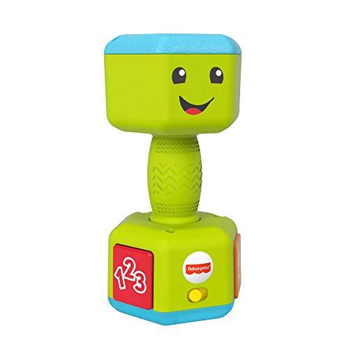 Fisher-Price GRF33 - Fisher-Price Lernspaß Hantel, Musikspielzeug zum Zählen