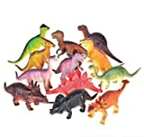 Bottles N Bags Realistic Looking Extra Large Dinosaurs Pack of 12 Large Plastic Assorted Dinosaur Figures