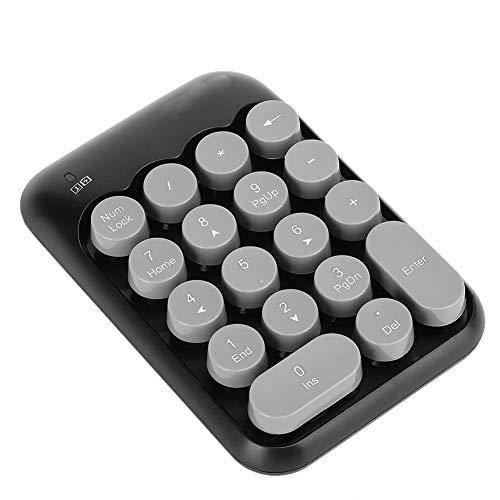 2,4 G Drahtloses Numerisches Tastenfeld, 18-Tasten-Zifferntastatur, mit Typ-C-Empfänger, für Diejenigen, die an Tabellenkalkulationen, Buchhaltungsdateien oder Finanzanwendungen Arbeiten(schwarz)