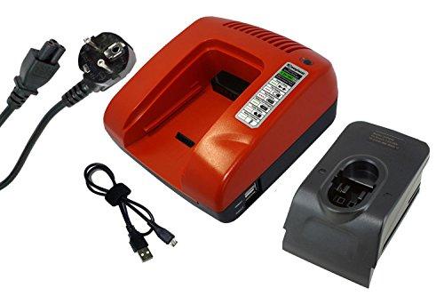 Power Smart® 7.2–18V Cargador para Bosch BAT181, BAT189, BAT299, BH 1454, sujetador...