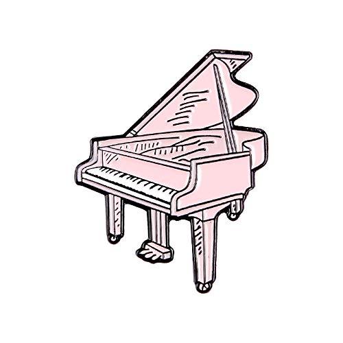 GJongie Brooch Anstecker Brooch Schmuck Brosche Boutonniere Musiksammlung Serie Metallstifte Mode Recorder Tv Tragbare Audio Emoticon Tape Piano Tragbare Klavier Emaille Brosche Geschenk-Xz1266