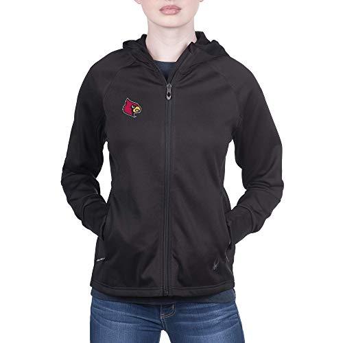 Spyder Louisville Cardinals Women's Hayer Full Zip Premium Fleece Gameday Hoodie, Medium