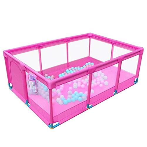 Sywlwxkq Parque de Juegos para bebés Parques para bebés Plumas extragrandes para bebés Gemelos para bebés: Seguridad antirreflujo para niños Juguete de Patio de Malla Transpirable (tamaño: