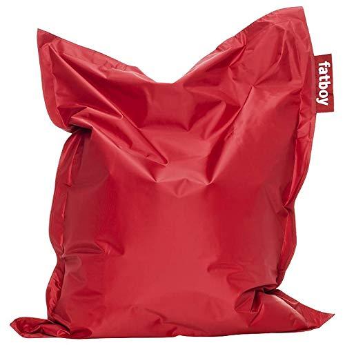 Fatboy® Junior rot | Original Nylon-Sitzsack | Klassisches Indoor Sitzkissen speziell für Kinder | 130 x 100 cm