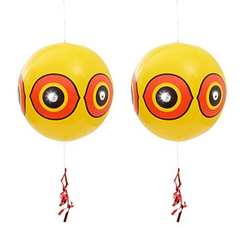 Gardigo Vogelfrei Ballon 2er Set I mit Augen zur Vogelabwehr I Vogelscheuche, Vogelschreck, Vogelabwehr I Deutscher Hersteller