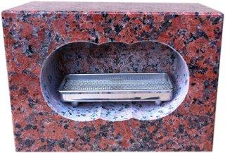 墓石用角型香炉 【新商品】 サイズ約幅30.5×奥行15.5×高さ21.5cm お墓のリフォーム!