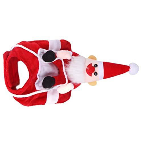 Tomaibaby Perro Santa Claus Montando Disfraz de Navidad Mascota Divertida Jinete Vaquero Perros Diseñados a Caballo Ropa de Atuendo de Gatos Ropa de Fiesta Vestir Ropa para Mascota Gato