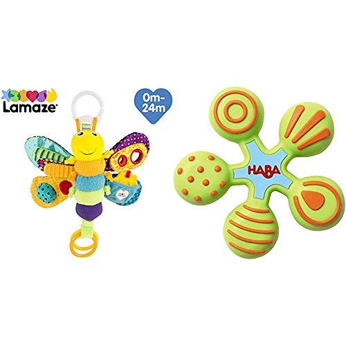 Lamaze Baby Spielzeug Freddie, das Glühwürmchen Clip & Go - hochwertiges Kleinkindspielzeug - Greifling Anhänger zur Stärkung der Eltern-Kind-Beziehung - ab 0 Monate & HABA 300426 - Greifling Stern