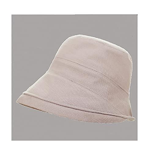 XIAOJU Sombreros de Pescador de Playa Sombrero de Sol de algodón para Mujer Anti-Ultravioleta Transpirable para Playa de Verano al Aire Libre,Pink