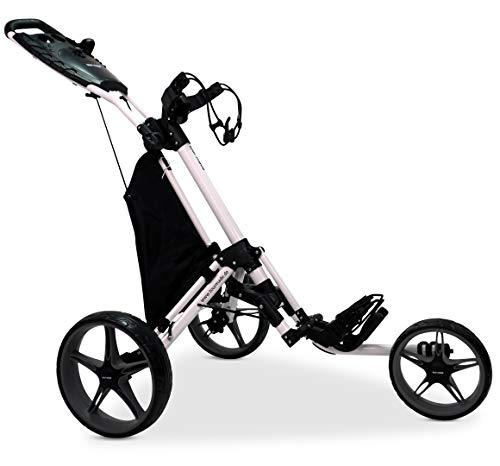 Tour Made RT-140 3-Rad Golf Push Trolley Pushtrolley Golftrolley 3-rad (weiss-grau)