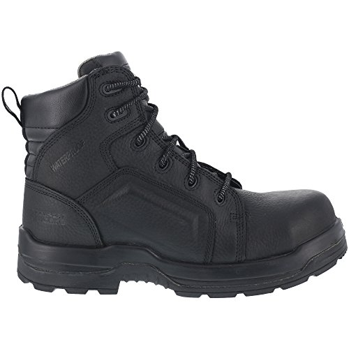 [WARSON] Rockport Womens Black Leather WP Work Boots More Energy Composite Toe