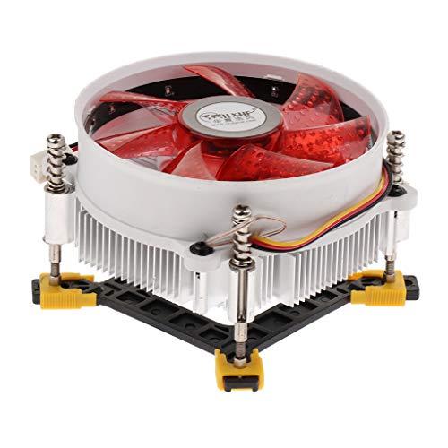 prasku 12V Ventilador Silencioso 12cm CPU Cooler Disipador de Calor Radiador de Aluminio para LGA CPU 775/115