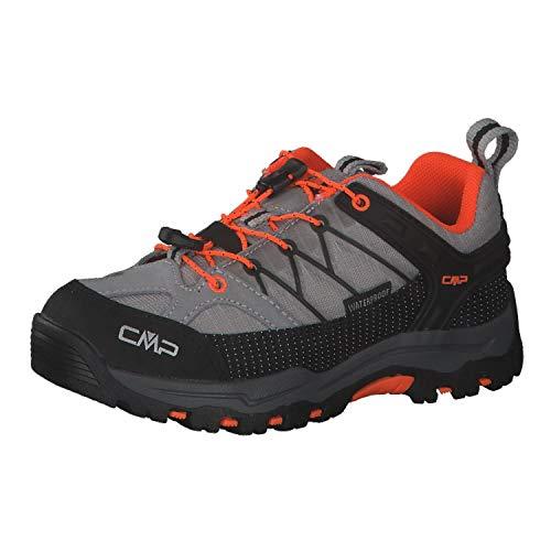 CMP Kinder Trekking Schuhe Rigel Low 3Q54554 Cemento-Flash Orange 34