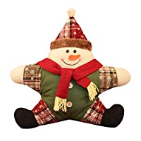 Cuscino natalizio: perfetto per decorare la vostra stanza, auto, divano, letto, ecc. Varie opzioni: Babbo Natale, pupazzo di neve, alce, tre modelli tra cui scegliere. Con cerniera: la federa ha una cerniera nascosta, e la cerniera è particolarmente ...