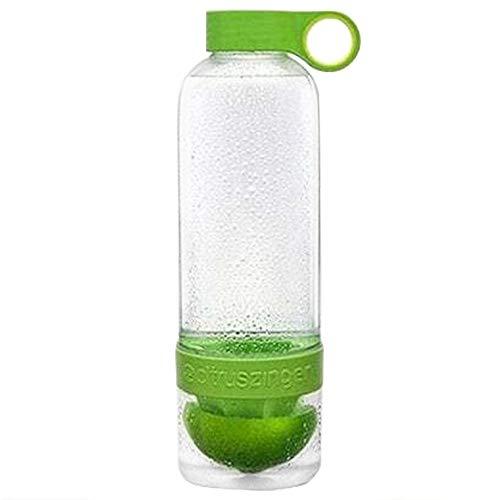 Zihuist Botella de Agua infusor de Jugo de limon de Fruta 800ML plastico Botellas de Bebida H2O portatiles para Acampar al Aire Libre Viajes Deporte Botella de Agua