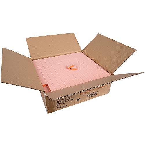 "ForPro Basics Orange/white Mini Block Buffer, 100/180 Grit, Double-sided Disposable Manicure & Pedicure Buffer, 1"" W X 1.4"" L, 1500Count"