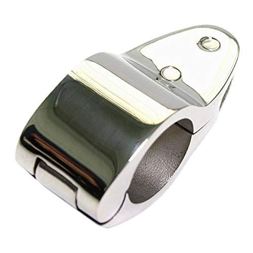 Toygogo Abrazadera de Tubo de Montaje de Toldo Marino de Acero Inoxidable para Barco Marino, Yate, Tubo de 1'
