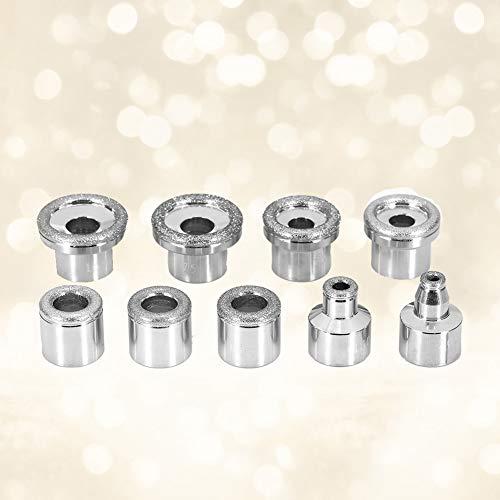 Diamant-punten – vervangende accessoires voor gezichtsspeling, verwijderen van huidresten, onzuiverheden, rimpels en gezichtsverzorging, roestvrijstalen filterset #1 9PCS WITHOUT BOE
