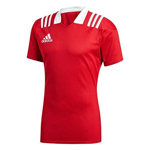 adidas Herren 3-Streifen Fitted Rugby Trikot, Powred, M