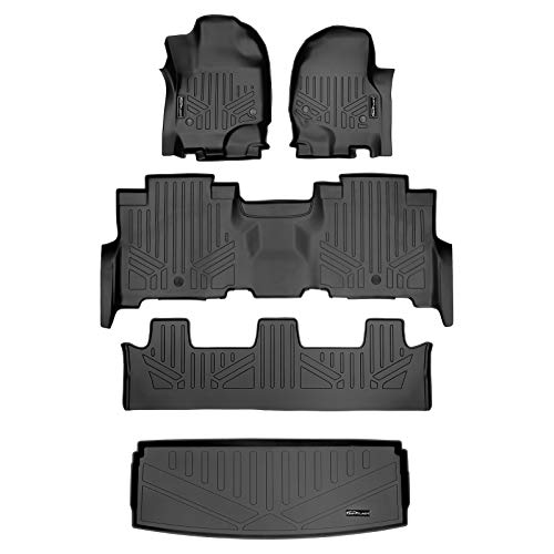 MAXLINER Floor Mats 3 Rows and Cargo Liner Behind 3rd Row Set Black for...